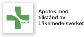 Logo - Apotek med tillstånd av Läkemedelsverket