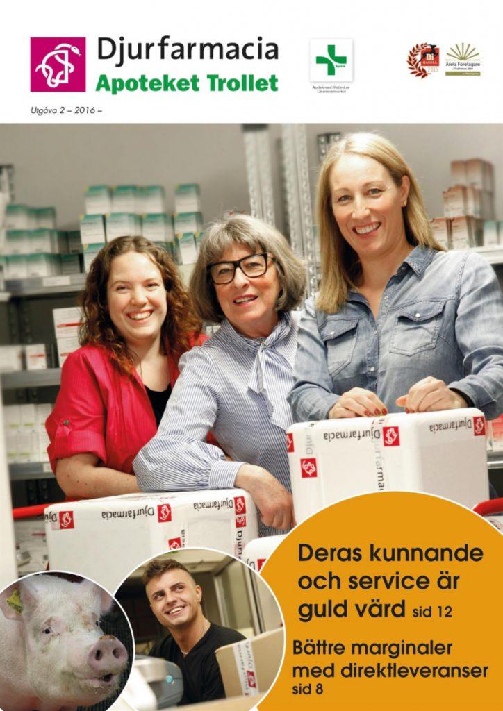 Omslag Djurfarmacia tidning 2016